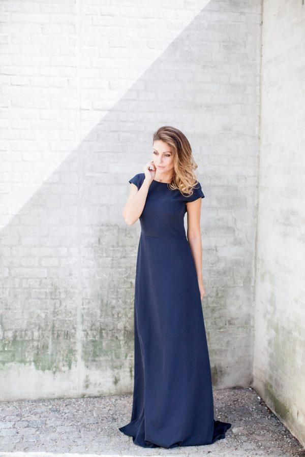 blå Babette design kjole