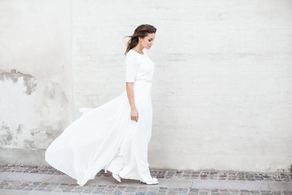 hvid design brudekjole